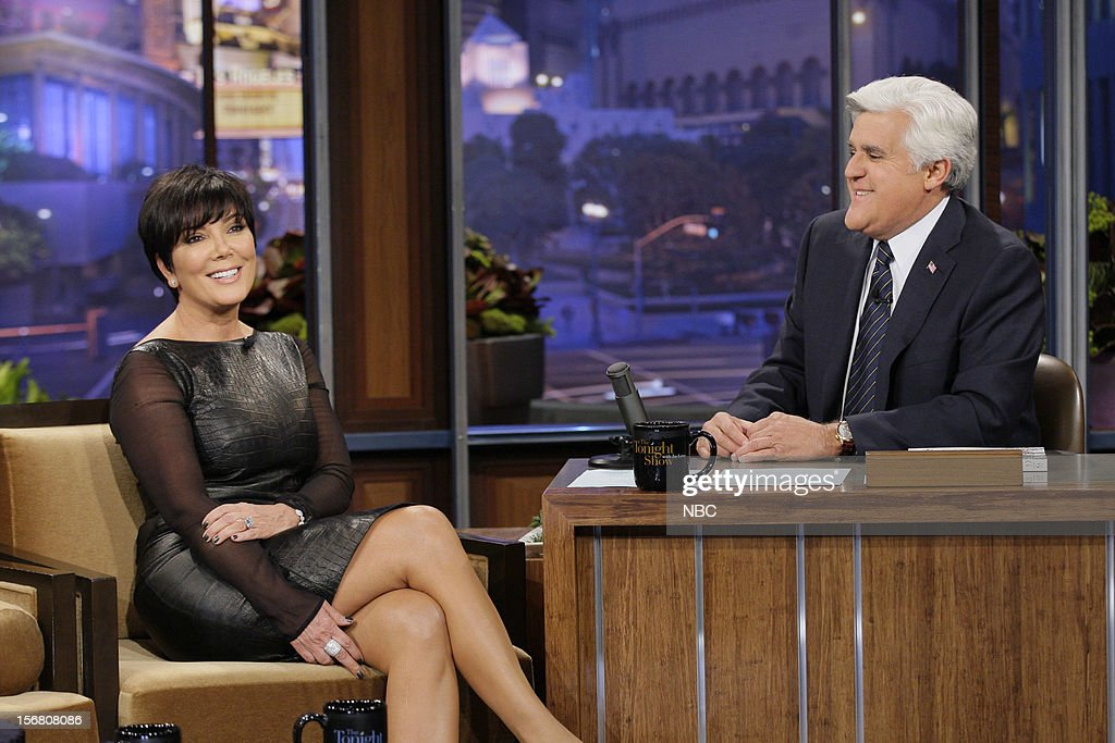 Kris Jenner during an interview with host Jay Leno on November 20, 2012 --