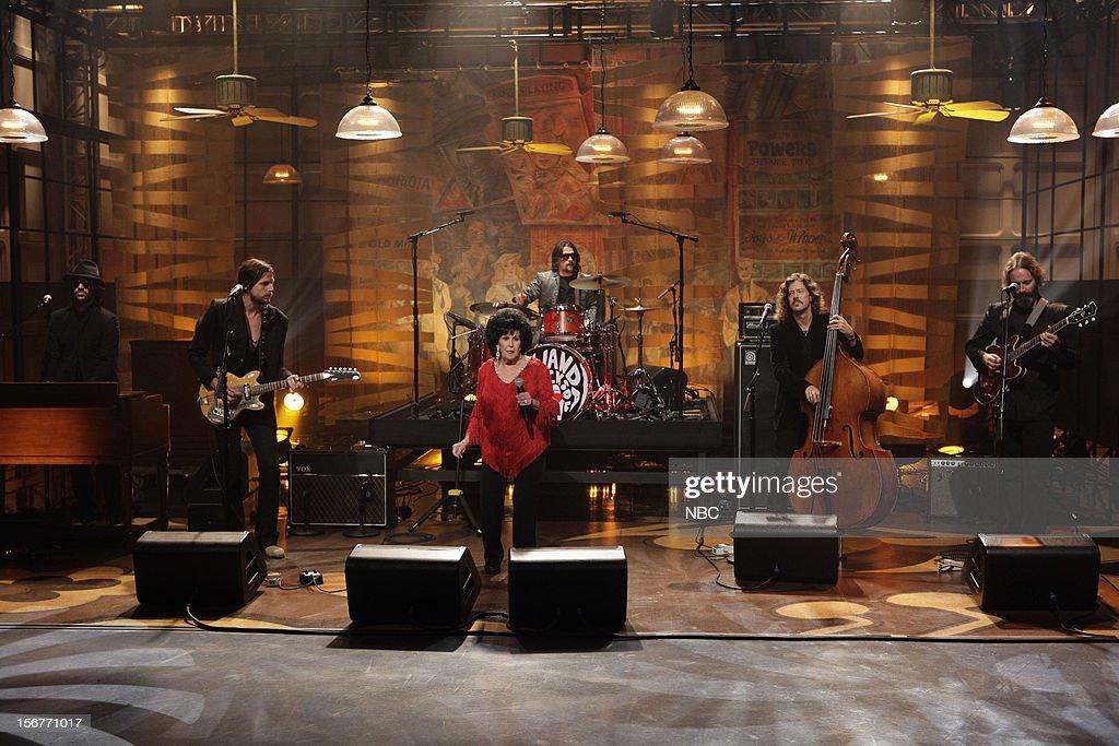 Musical guest Wanda Jackson peforms on November 20, 2012 --