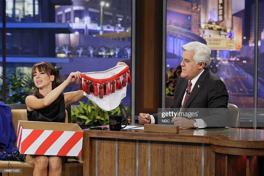 Comedian Natasha Leggero during an interview with host Jay Leno on November 22, 2012 --