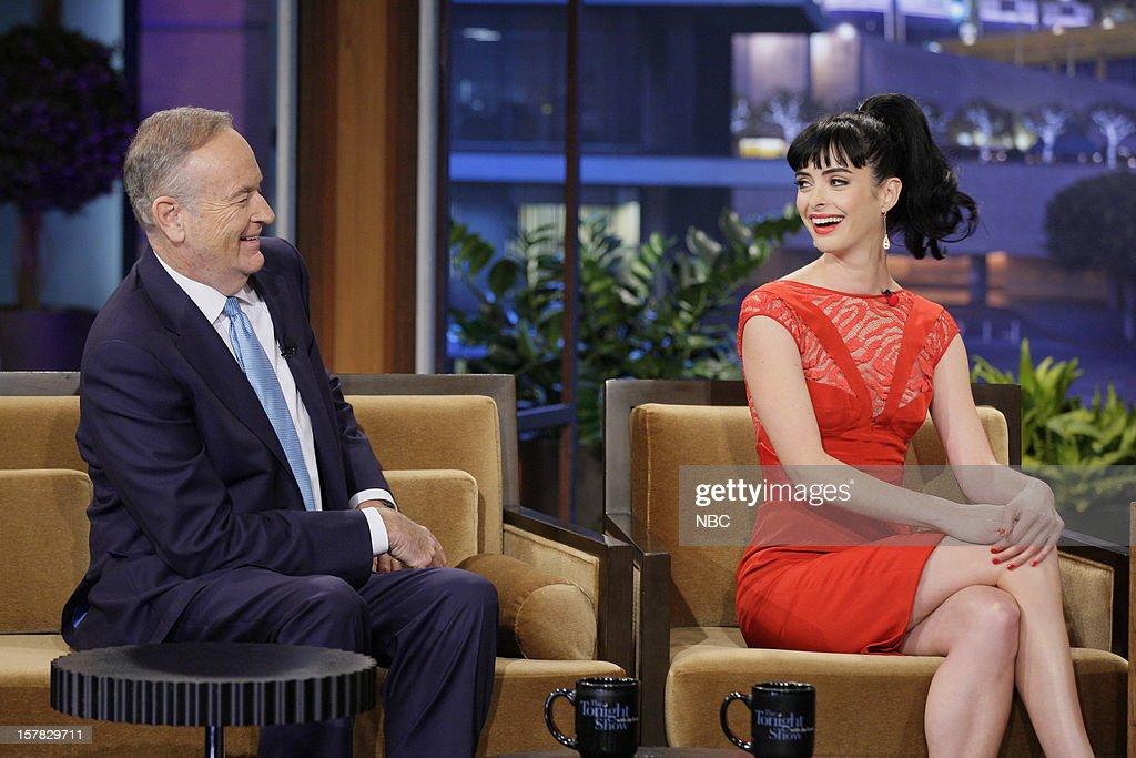 Actress News journalist Bill O'Reilly, Krysten Ritter during an interview on December 6, 2012 --