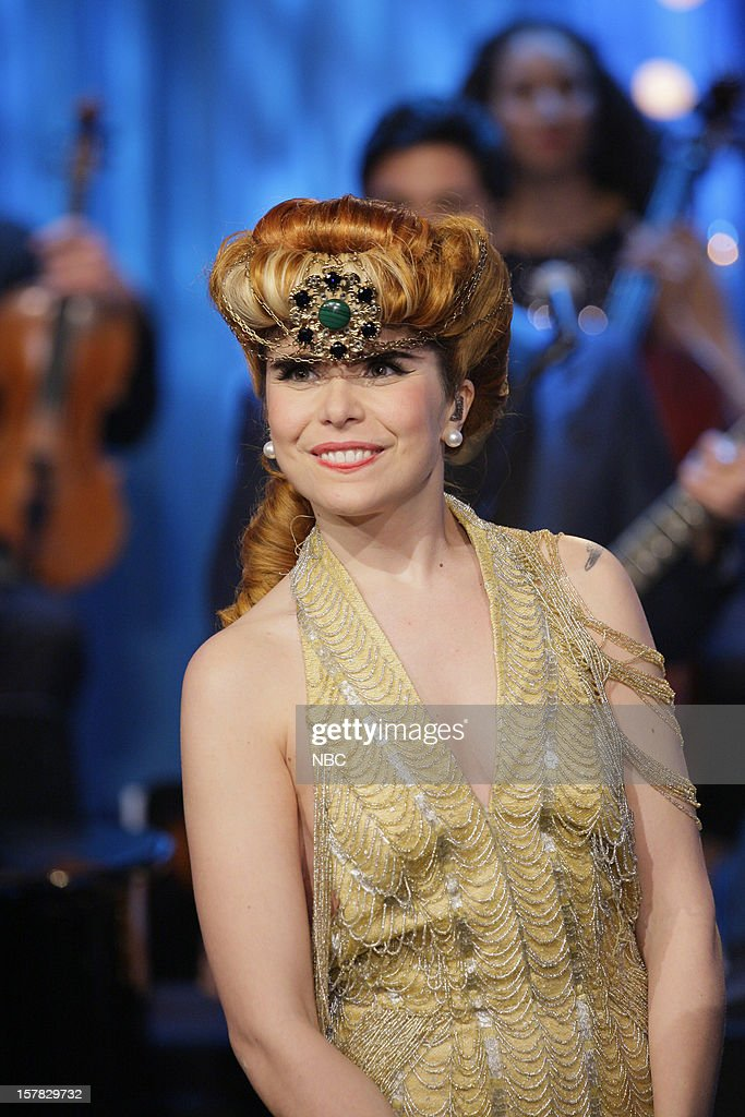 Musical guest <a gi-track='captionPersonalityLinkClicked' href=/galleries/search?phrase=Paloma+Faith&family=editorial&specificpeople=4214118 ng-click='$event.stopPropagation()'>Paloma Faith</a> onstage December 6, 2012 --