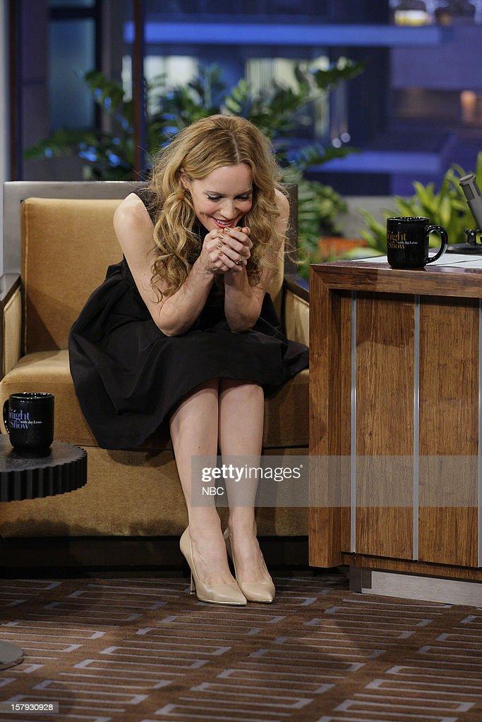 Actress Leslie Mann during an interview on December 7, 2012 --