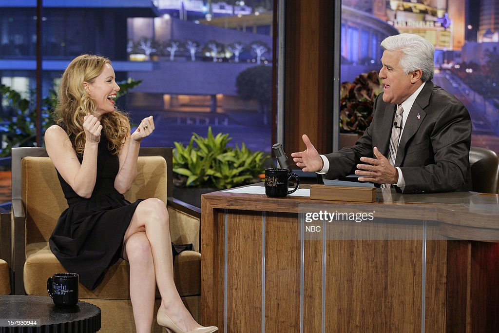 Actress Leslie Mann during an interview with host Jay Leno on December 7, 2012 --