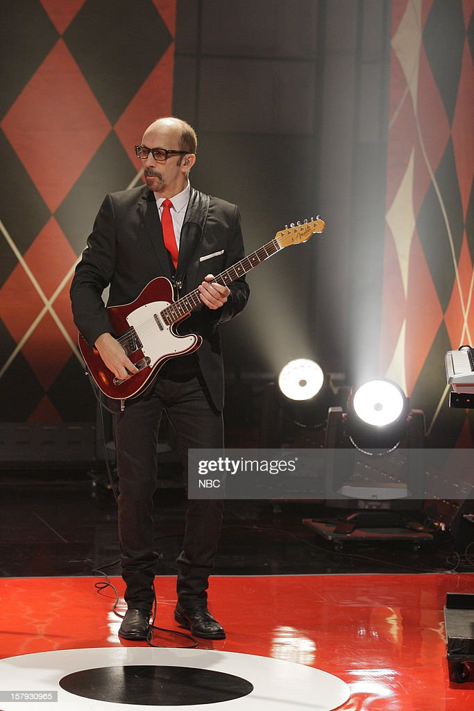 Duke Erikson of musical guests Garbage performs on December 7, 2012 --