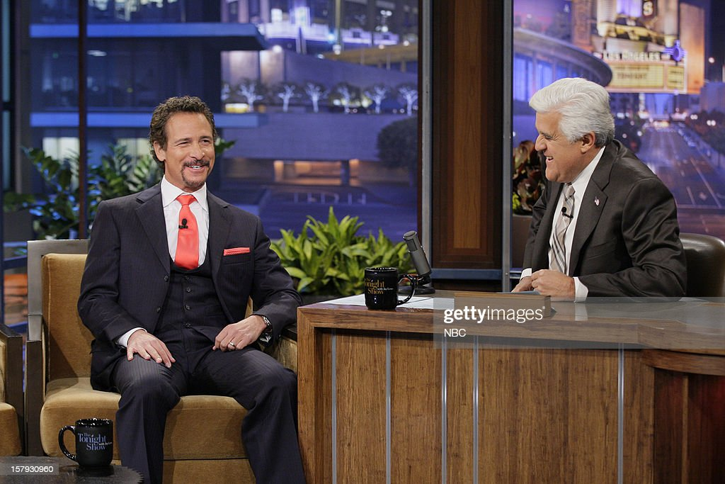 Sports talk show host Jim Rome during an interview with host Jay Leno on December 7, 2012 --