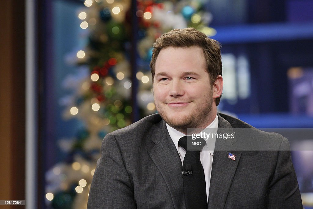 Actor Chris Pratt during an interview on December 10, 2012 --