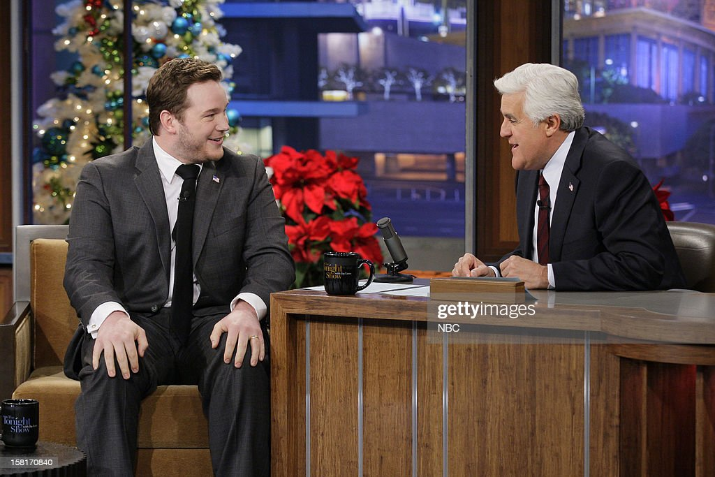 Actor Chris Pratt during an interview with host Jay Leno on December 10, 2012 --
