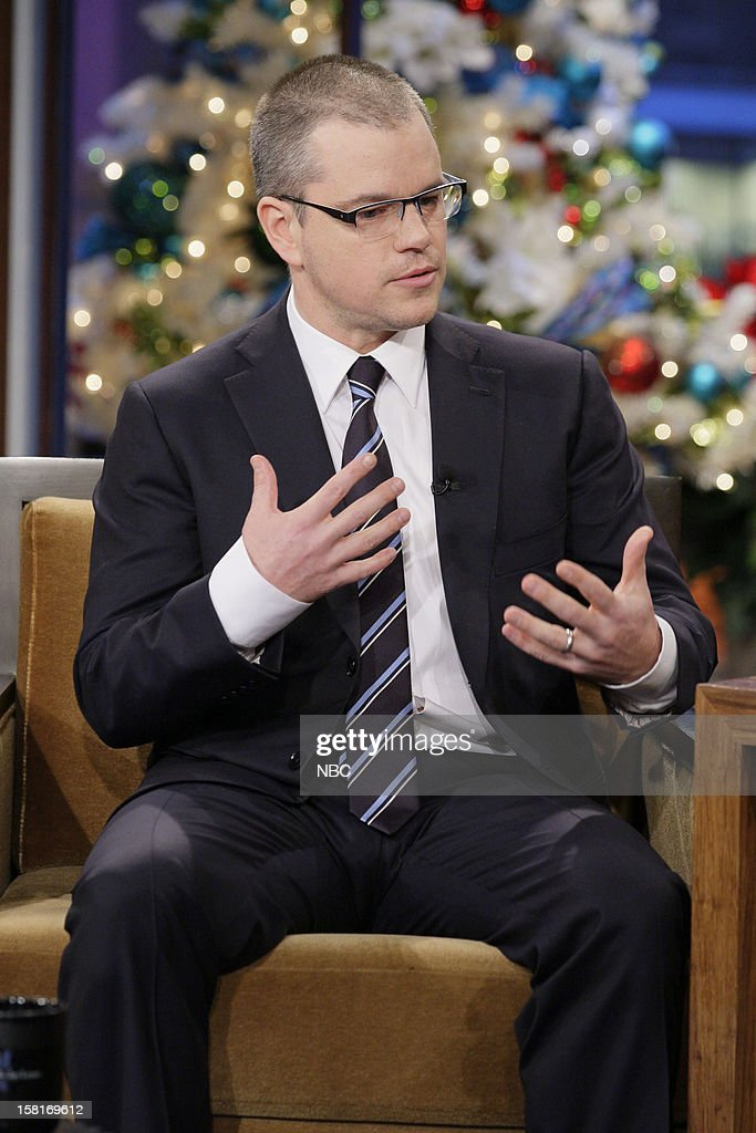 Actor Matt Damon during an interview on December 10, 2012 --