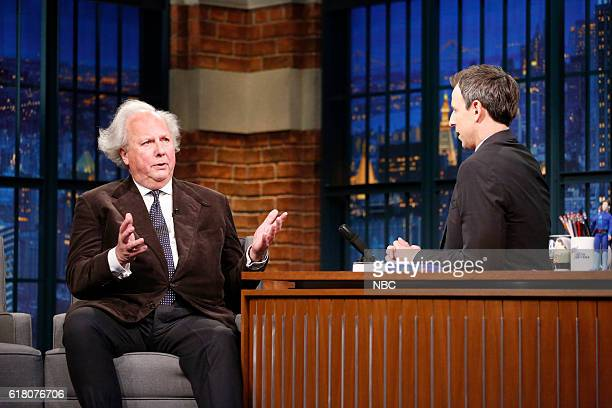 Vanity Fair editor Graydon Carter during an interview with host Seth Meyers on October 25 2016