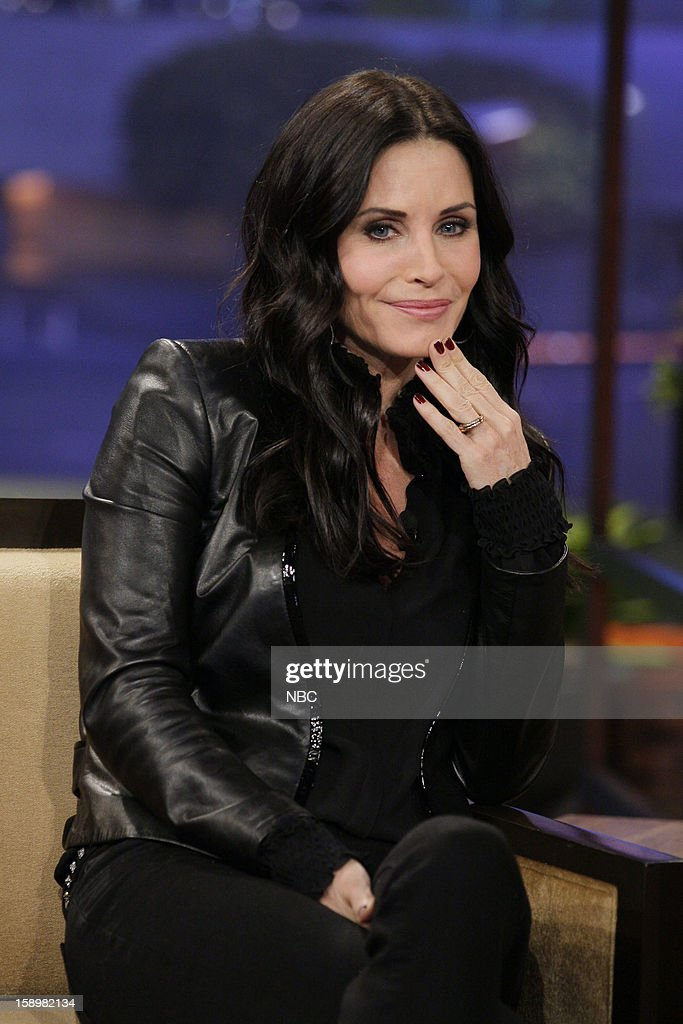 Actress <a gi-track='captionPersonalityLinkClicked' href=/galleries/search?phrase=Courteney+Cox&family=editorial&specificpeople=203101 ng-click='$event.stopPropagation()'>Courteney Cox</a> during an interview on January 4, 2013 --