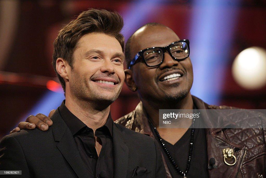 Ryan Seacrest and Randy Jackson of American Idol on January 10, 2013 --