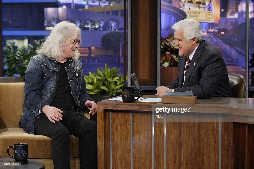 Actor/comedian Billy Connolly during an interview with host Jay Leno on January 14, 2013 --