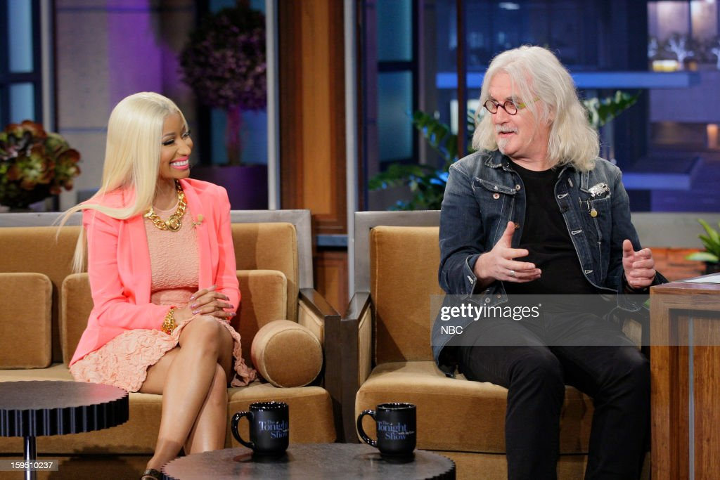 Singer Nicki Minaj, Actor/comedian Billy Connolly during an interview on January 14, 2013 --