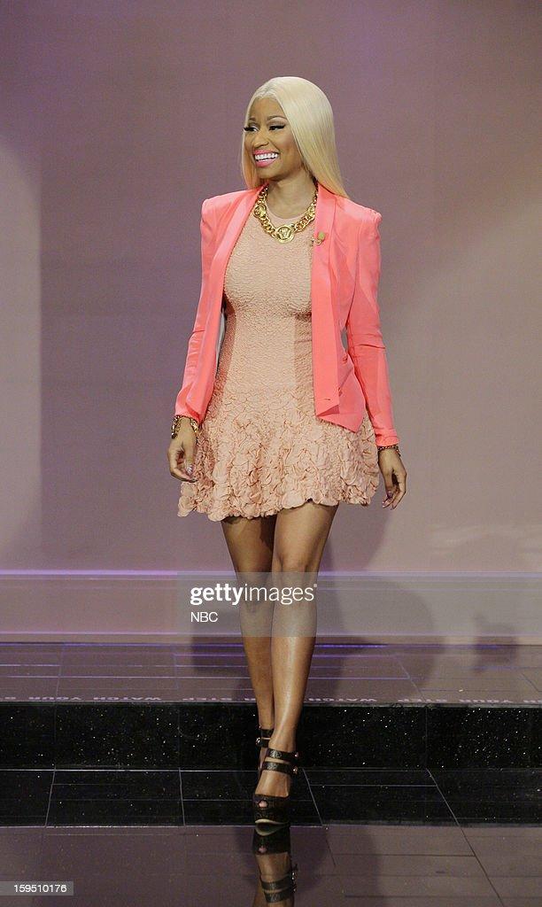 Singer Nicki Minaj arrives on January 14, 2013 --