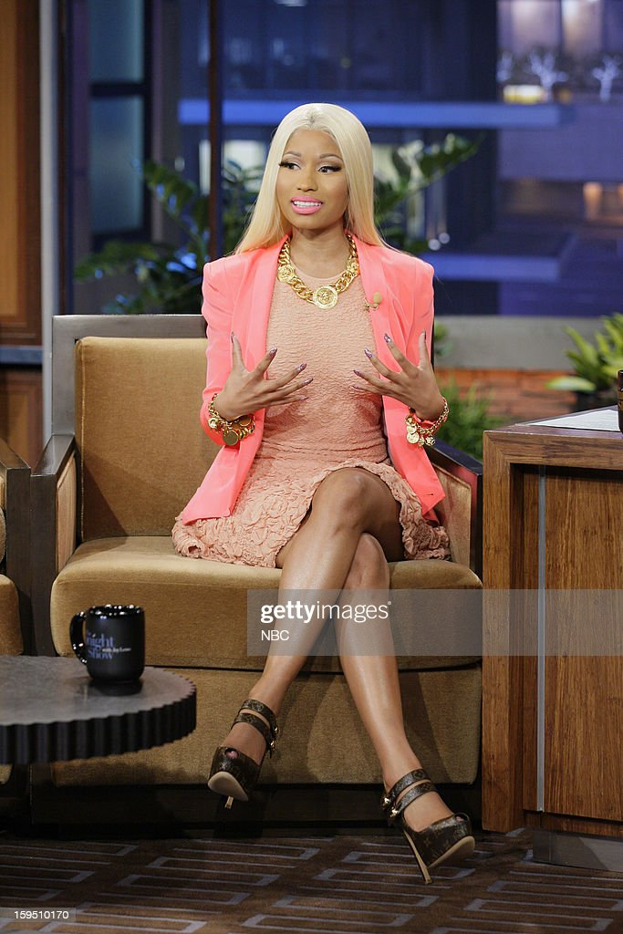 Singer Nicki Minaj during an interview on January 14, 2013 --