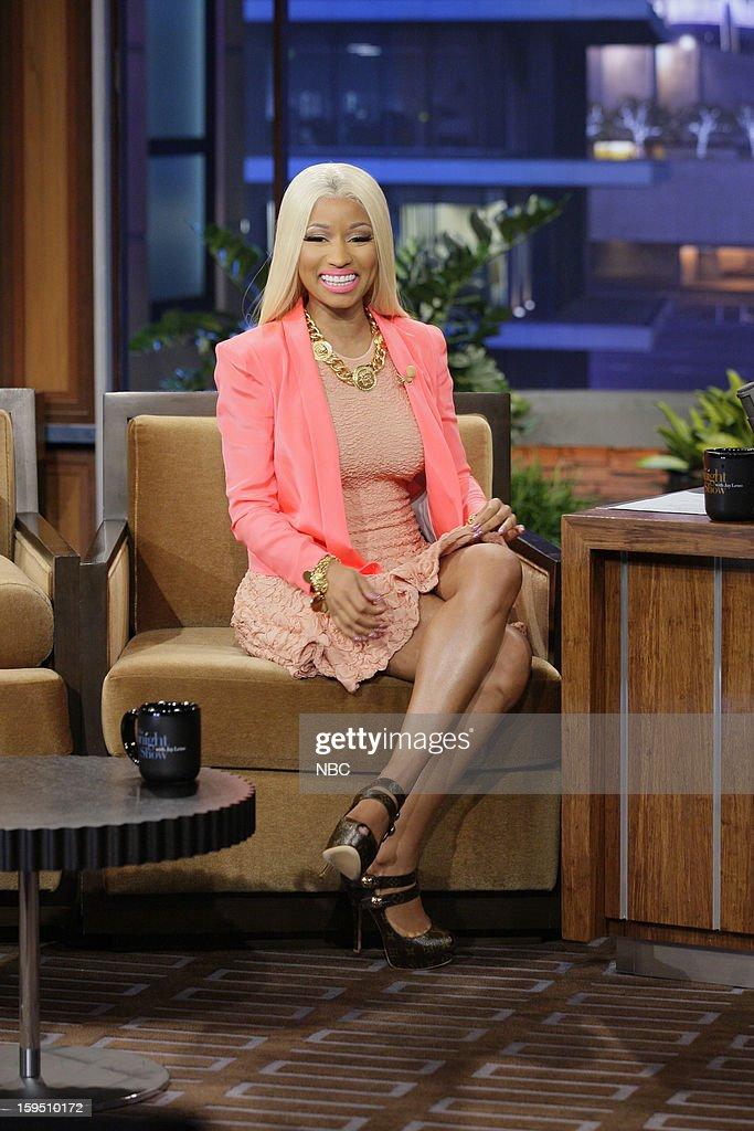 Singer Nicki Minaj during an interview on January 14, 2013 --