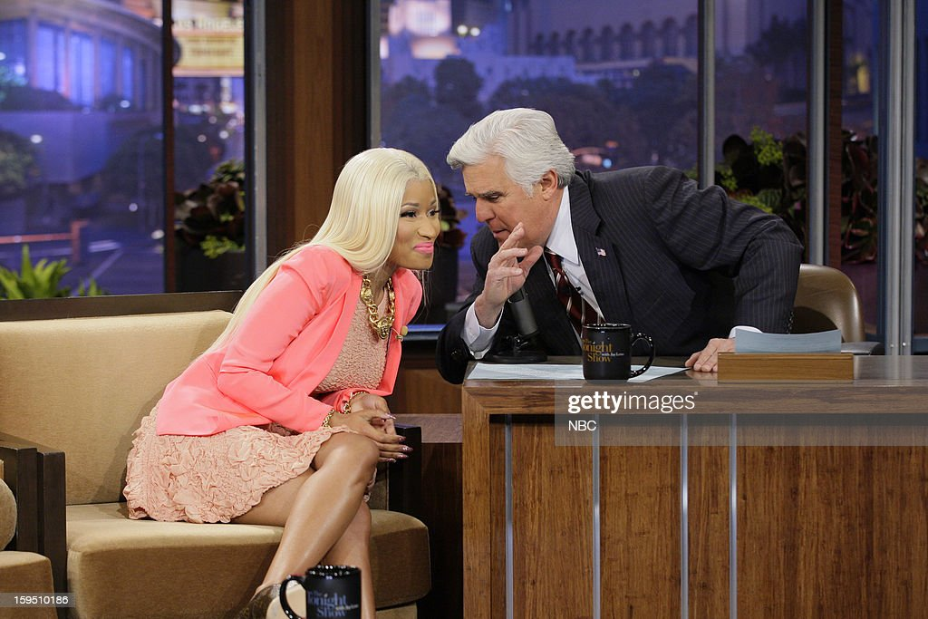Singer Nicki Minaj during an interview with host Jay Leno on January 14, 2013 --