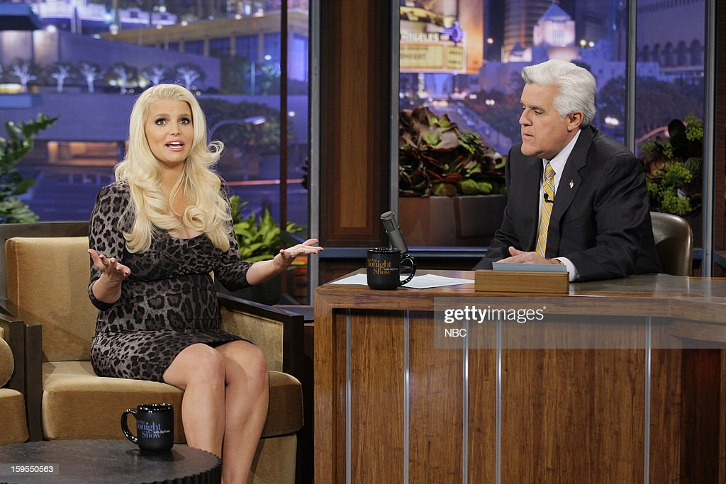 Actress Jessica Simpson during an interview with host Jay Leno on January 15, 2013 --