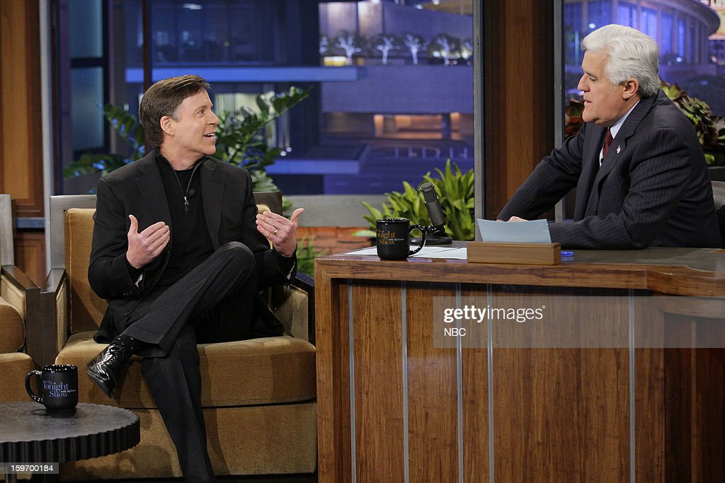 <a gi-track='captionPersonalityLinkClicked' href=/galleries/search?phrase=Bob+Costas&family=editorial&specificpeople=225170 ng-click='$event.stopPropagation()'>Bob Costas</a> during an interview with host <a gi-track='captionPersonalityLinkClicked' href=/galleries/search?phrase=Jay+Leno+-+Fernsehmoderator&family=editorial&specificpeople=156431 ng-click='$event.stopPropagation()'>Jay Leno</a> on January 18, 2013 --
