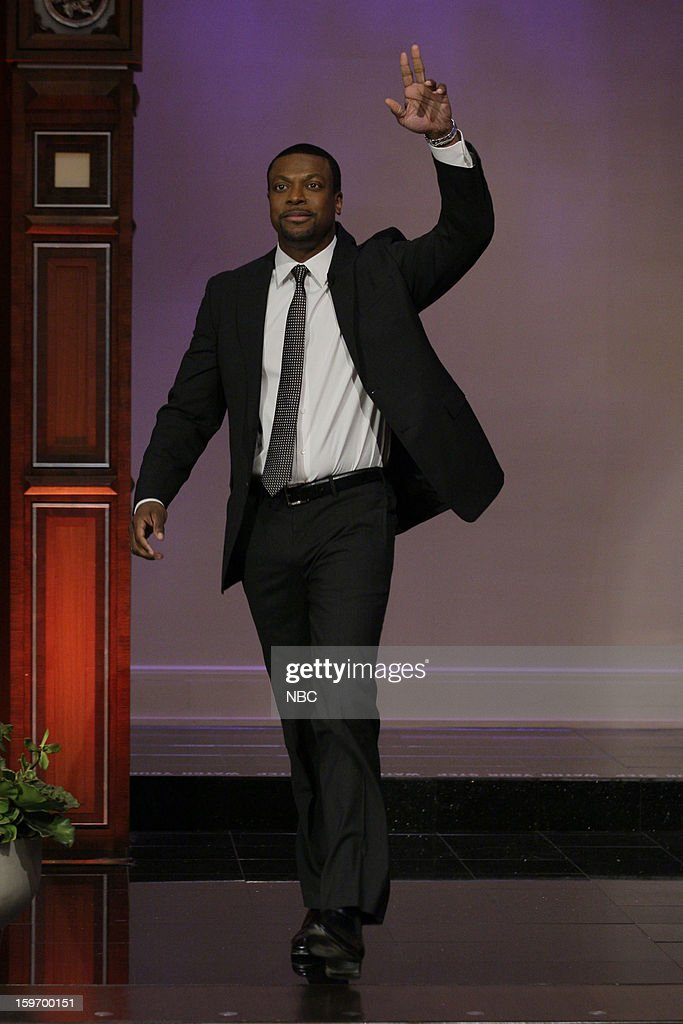 Comedian <a gi-track='captionPersonalityLinkClicked' href=/galleries/search?phrase=Chris+Tucker&family=editorial&specificpeople=203254 ng-click='$event.stopPropagation()'>Chris Tucker</a> arrives on January 18, 2013 --
