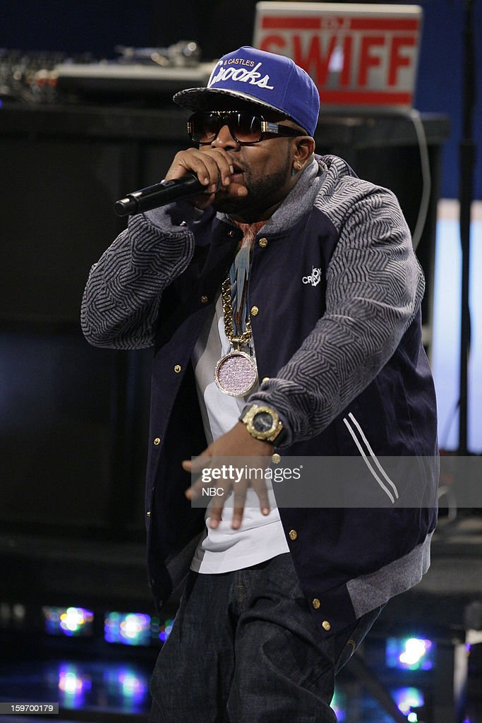 Musical guest <a gi-track='captionPersonalityLinkClicked' href=/galleries/search?phrase=Big+Boi&family=editorial&specificpeople=202898 ng-click='$event.stopPropagation()'>Big Boi</a> performs on January 18, 2013 --