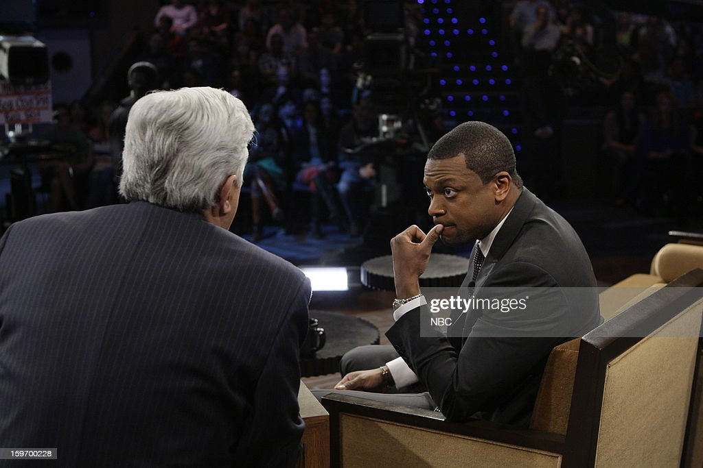 LENO -- (EXCLUSIVE COVERAGE) -- Episode 4391 -- Pictured: (l-r) on January 18, 2013 --