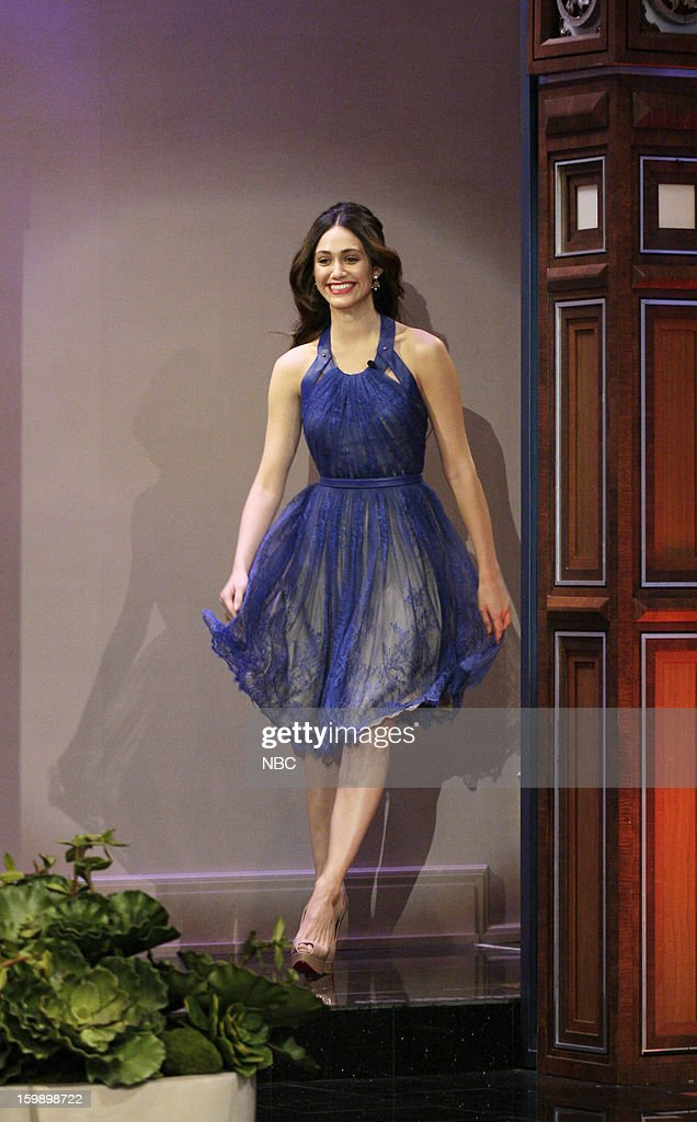 Actress <a gi-track='captionPersonalityLinkClicked' href=/galleries/search?phrase=Emmy+Rossum&family=editorial&specificpeople=202563 ng-click='$event.stopPropagation()'>Emmy Rossum</a> arrives on January 22, 2013 --