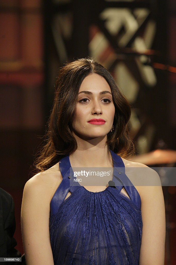 Actress Emmy Rossum onstage January 22, 2013 --