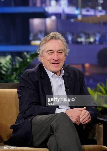 Actor Robert De Niro during an interview on January 25 2013