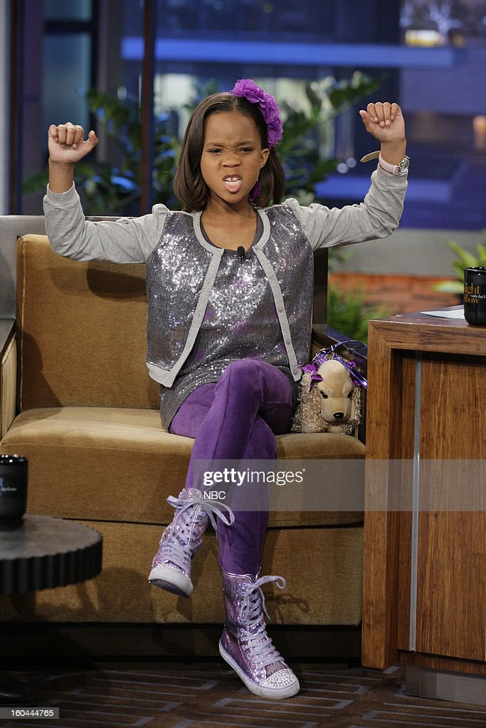 Actress Quvenzhane Wallis during an interview on January 31, 2013 --