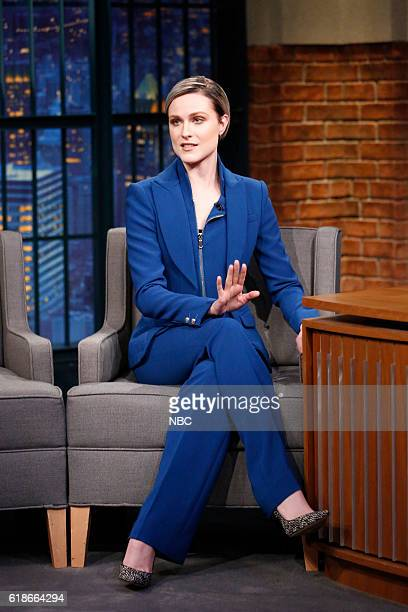 Actress Evan Rachel Wood during an interview on October 27 2016