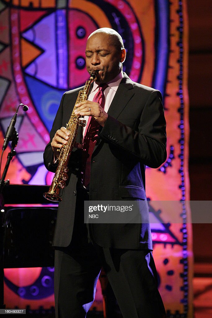Musical guest Branford Marsalis performs on February 1, 2013 --