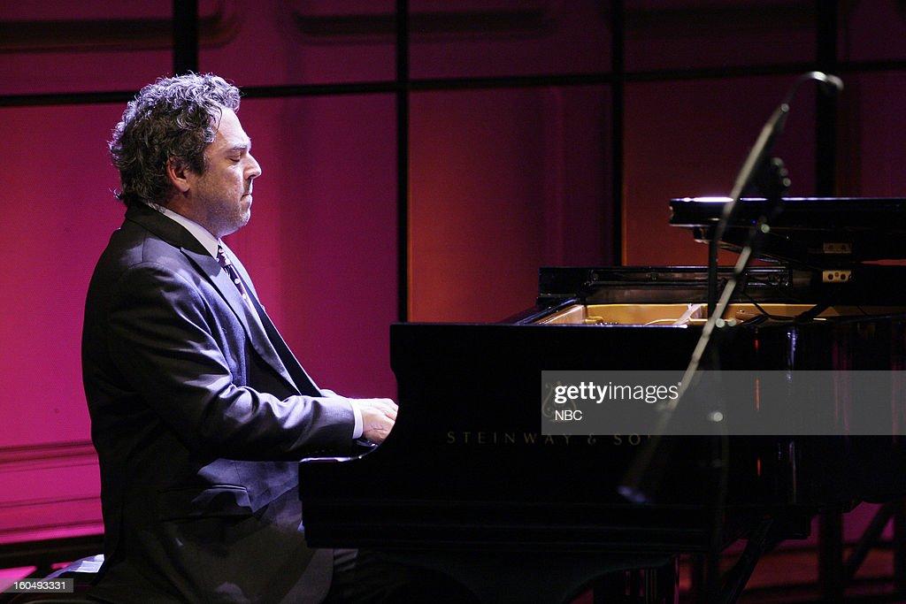 Musical guest Joey Calderazzo - Branford Marsalis Quartet performs on February 1, 2013 --