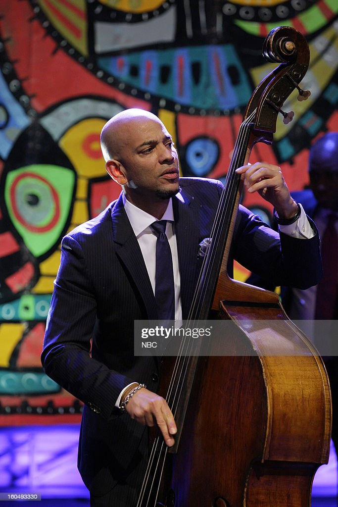 Musical guests Branford Marsalis Quartet perform -Eric Revis on February 1, 2013 --