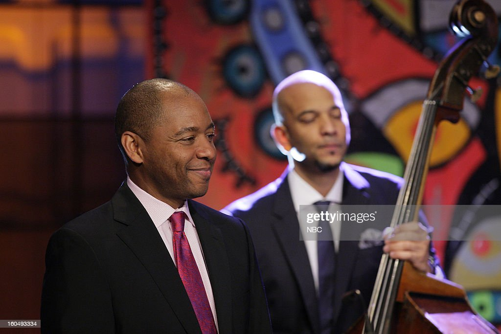 Musical guests Branford Marsalis Quartet perform (left) Branford Marsalis on February 1, 2013 --