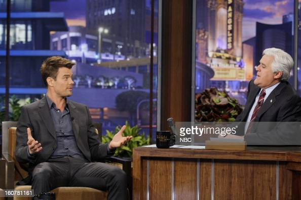 Actor Josh Duhamel during an interview with host Jay Leno on February 5 2013