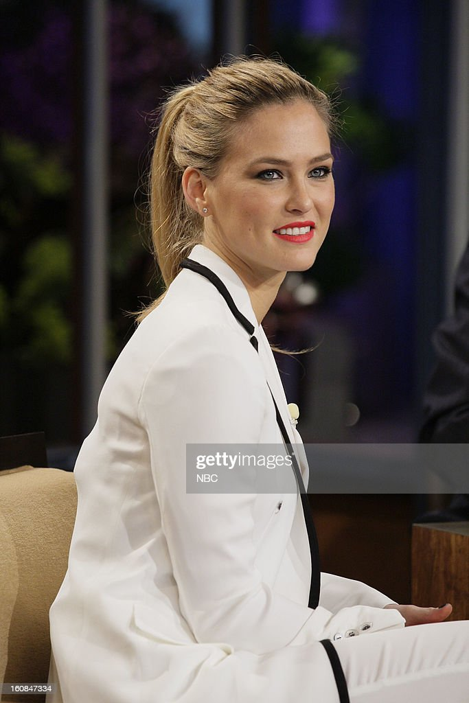 Supermodel Bar Refaeli during an interview on February 6, 2013 --