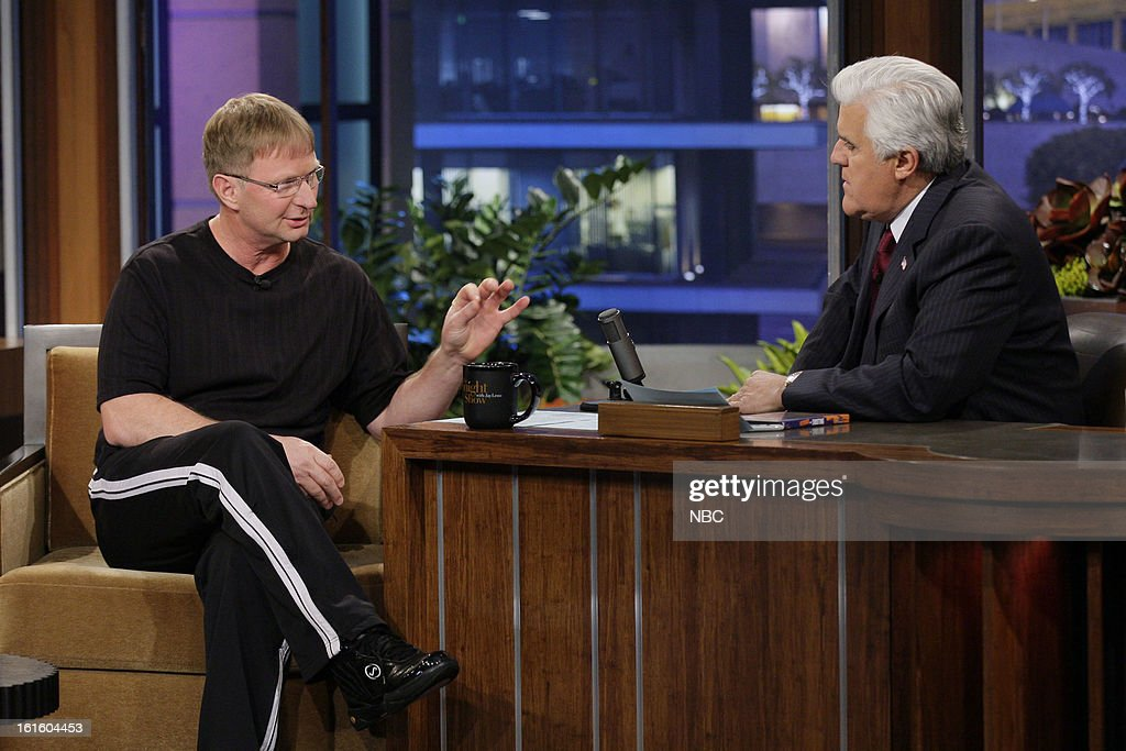 The World's Fastest Free Throw Shooter Bob Fisher during an interview with host Jay Leno on February 12, 2013 --