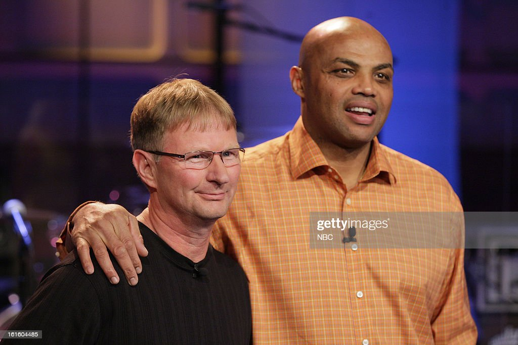 The World's Fastest Free Throw Shooter Bob Fisher and former basketball player <a gi-track='captionPersonalityLinkClicked' href=/galleries/search?phrase=Charles+Barkley&family=editorial&specificpeople=202484 ng-click='$event.stopPropagation()'>Charles Barkley</a> on February 12, 2013 --