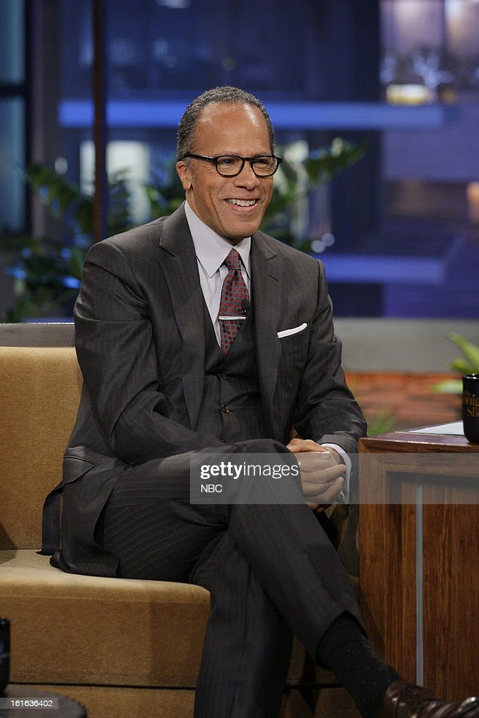 News anchor Lester Holt during an interview on February 13, 2013 --