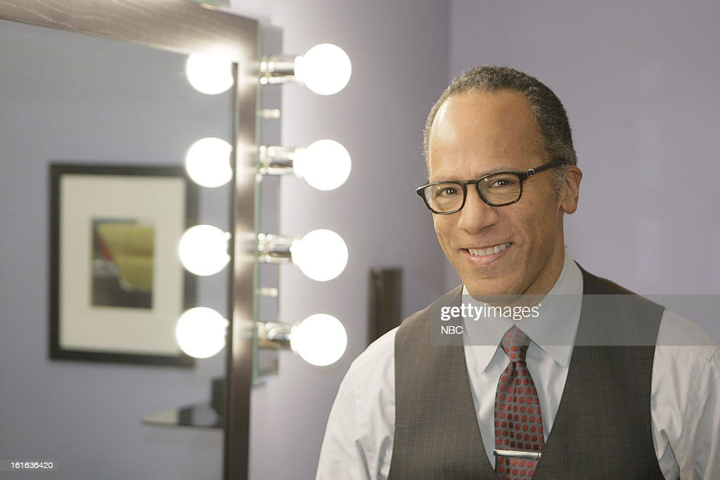 LENO -- (EXCLUSIVE COVERAGE) -- Episode 4408 -- Pictured: News anchor Lester Holt on February 13, 2013 --