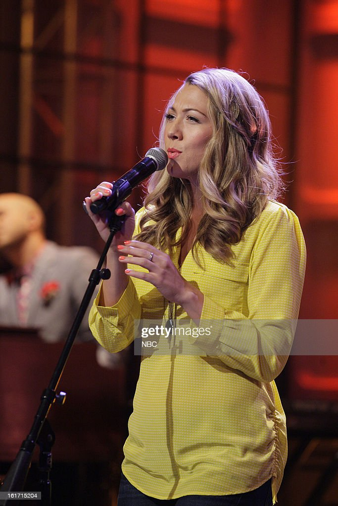 Musical guest <a gi-track='captionPersonalityLinkClicked' href=/galleries/search?phrase=Colbie+Caillat&family=editorial&specificpeople=4410812 ng-click='$event.stopPropagation()'>Colbie Caillat</a> performs on February 14, 2013 --