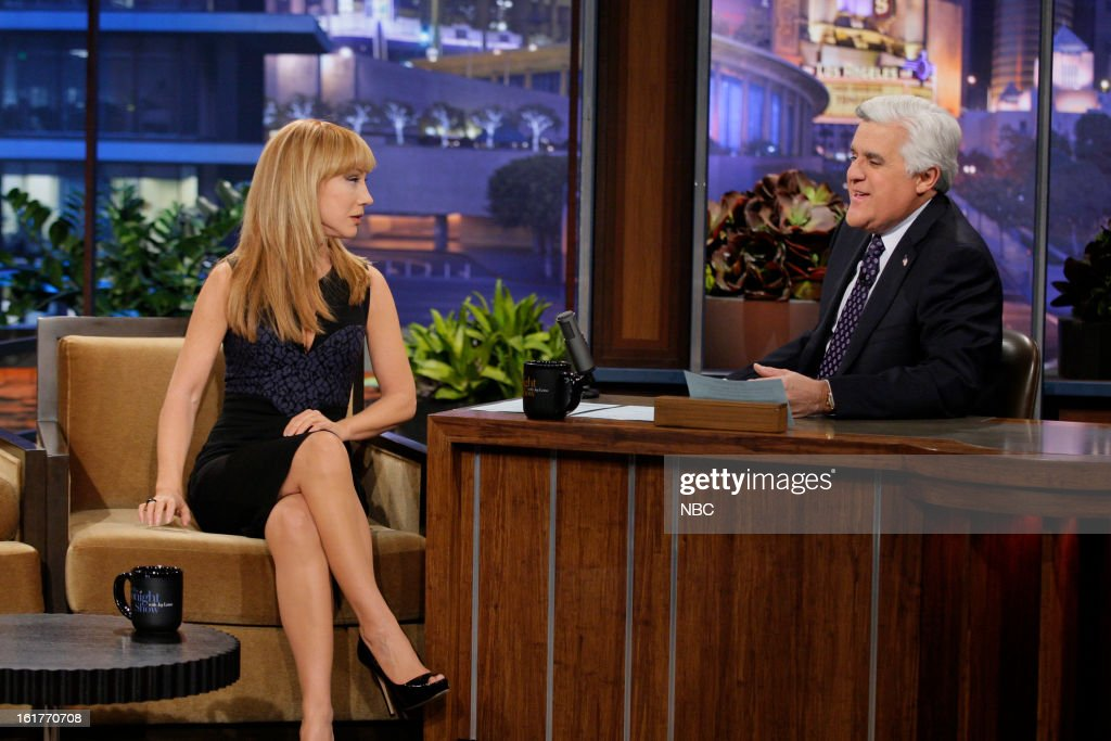 Comedian Kathy Griffin during an interview with host Jay Leno on February 15, 2013 --