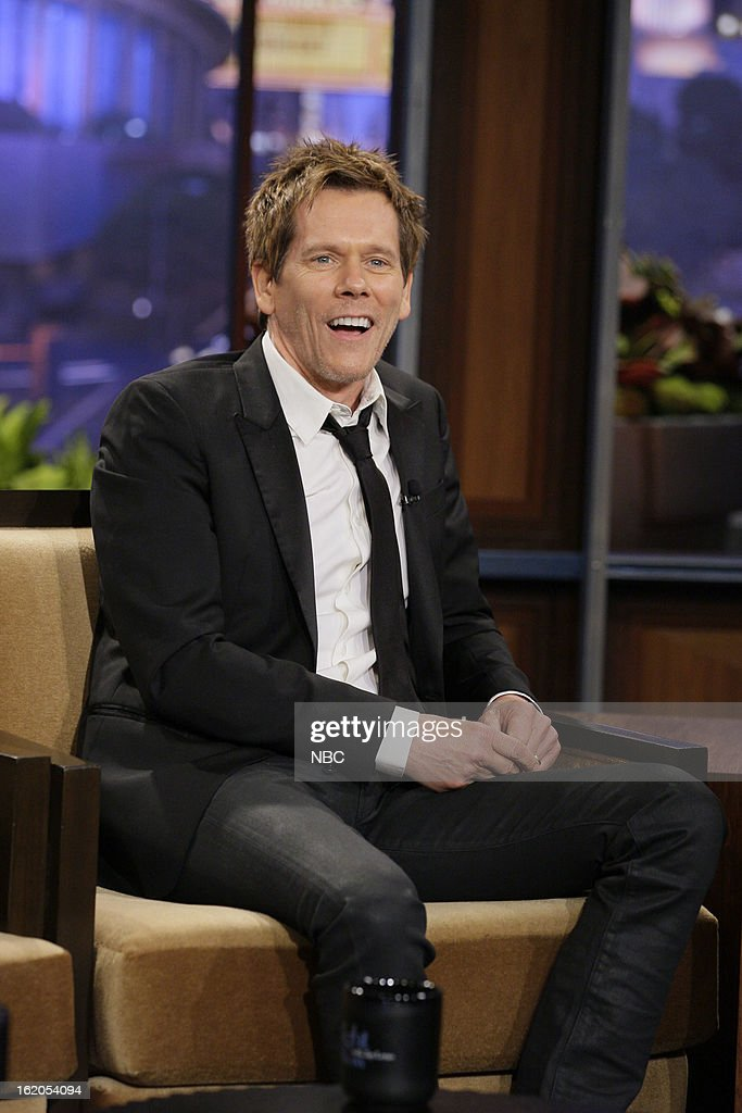 Actor <a gi-track='captionPersonalityLinkClicked' href=/galleries/search?phrase=Kevin+Bacon&family=editorial&specificpeople=202000 ng-click='$event.stopPropagation()'>Kevin Bacon</a> during an interview on February 18, 2013 --
