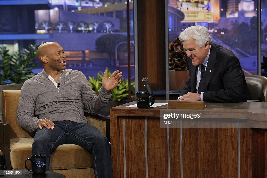 Musical guest Kevin Eubanks during an interview with host Jay Leno on February 18, 2013 --
