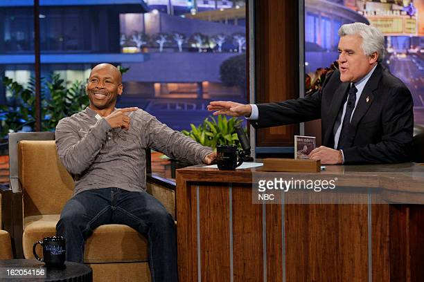 Musical guest Kevin Eubanks during an interview with host Jay Leno on February 18 2013