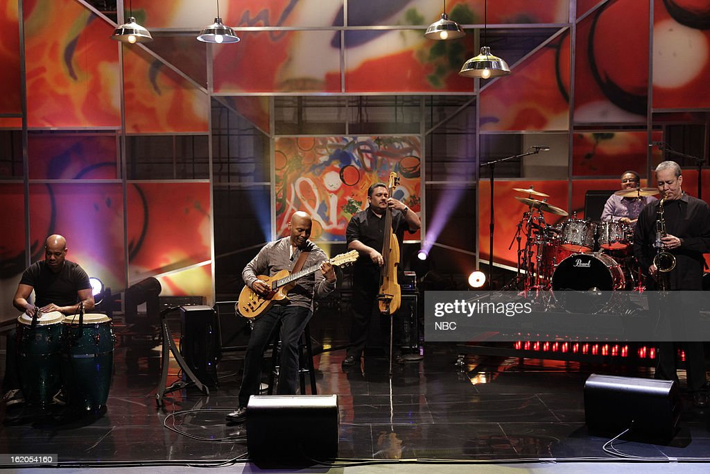 Musical guest Kevin Eubanks performs on February 18, 2013 --