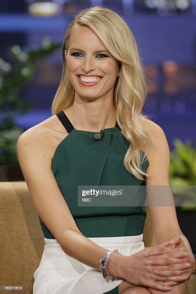 Model Karolina Kurkova during an interview on February 21, 2013 --