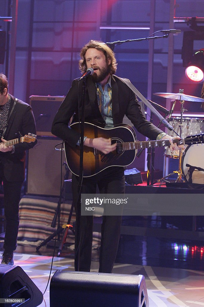 Josh Tillman of musical guest Father John Misty performs on February 27, 2013 --