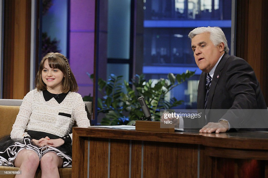 Actress Joey King during an interview with host Jay Leno on February 28, 2013 --